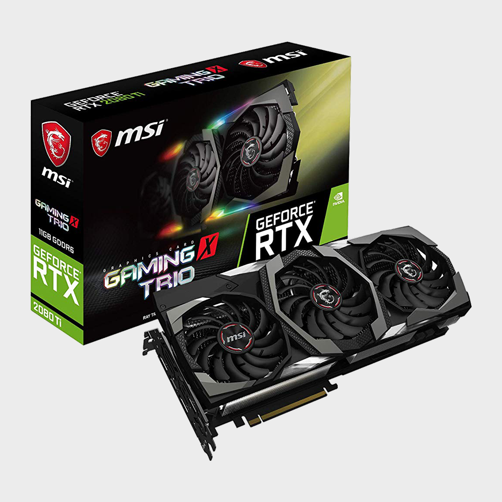 MSI GeForce RTX 2080 TI GAMING X TRIO 11GB Graphics Card-MSI-computerspace
