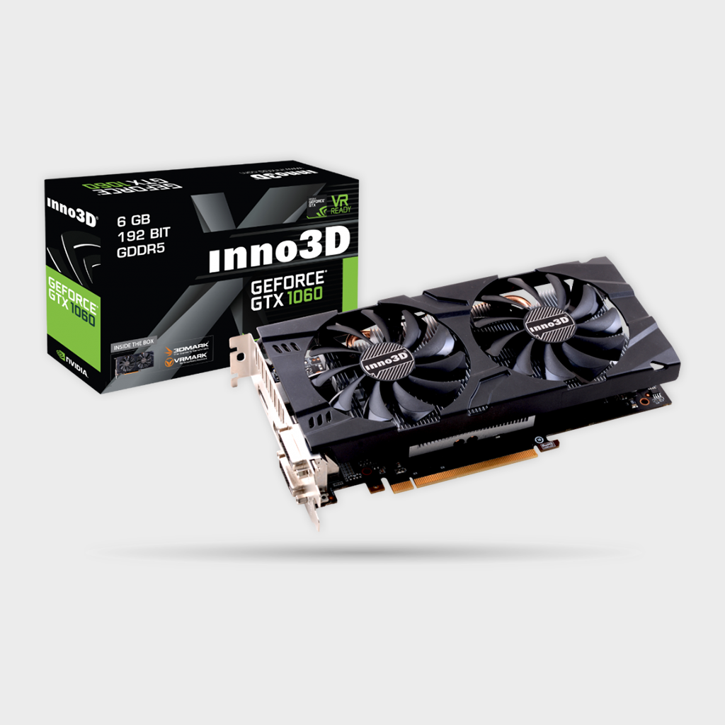 Inno3D GTX1060 6GB Twin X2 Graphics Card-INNO3D-computerspace