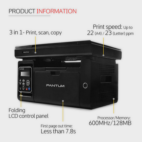PANTUM M6502 LASERJET MFP PRINTER-Pantum-computerspace