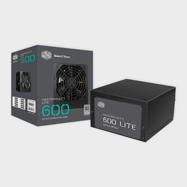 Cooler Master MasterWatt Lite 600W 230V UK Retail Power Supply-Cooler Master-computerspace