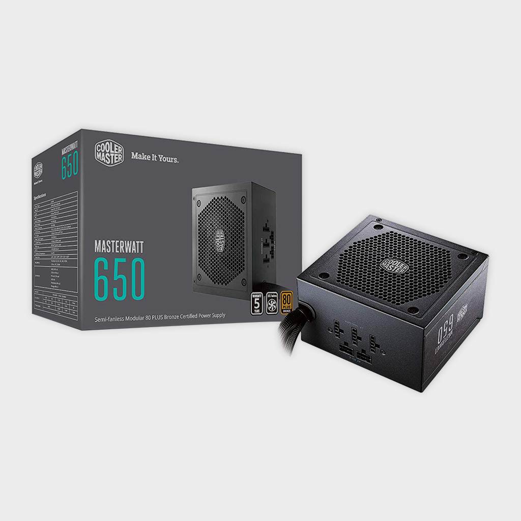 Cooler Master MW Semi-Modular 650W A/UK Cable Power Supply-Cooler Master-computerspace
