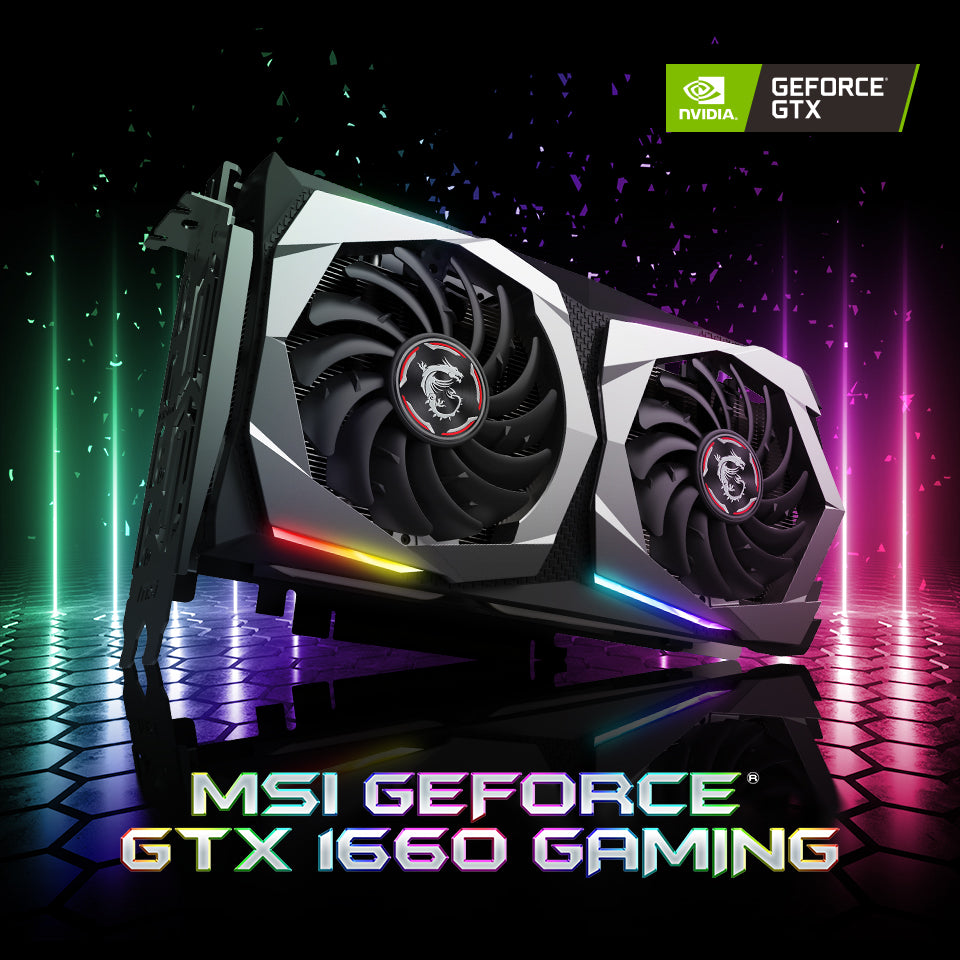 MSI GeForce GTX 1660 GAMING X 6G Graphics Card-MSI-computerspace