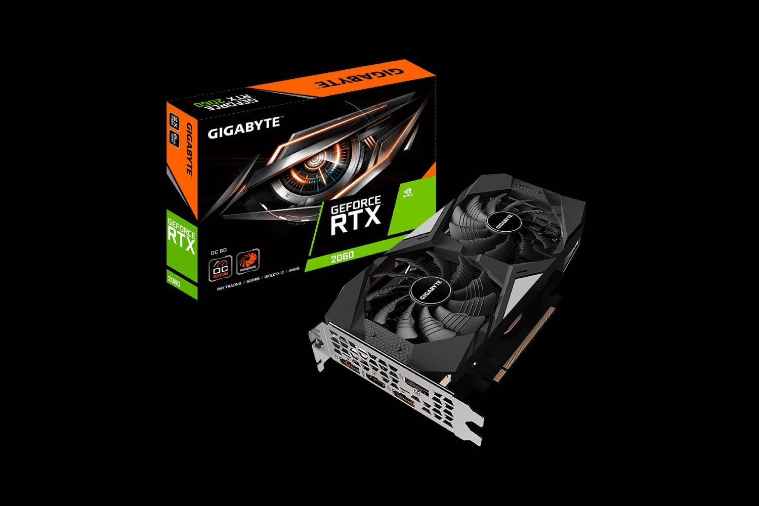 Gigabyte GeForce RTX 2060 OC 6G Graphics Card