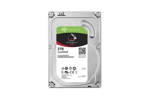 Seagate 2TB IronWolf NAS SATA Hard Drive 6Gb/s 256MB Cache 3.5-Inch Internal HDD