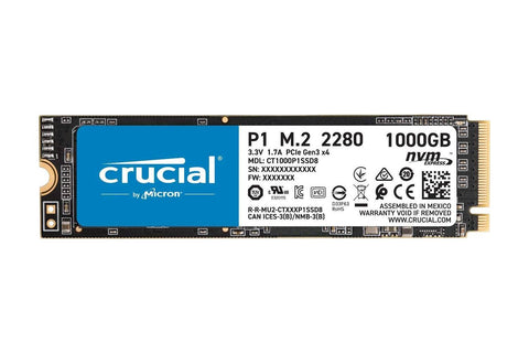 Crucial P1 1TB 3D NAND NVMe PCIe M.2 SSD-computerspace