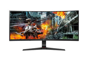 LG Ultragear 34-inch G-Sync Compatible Curved Ultrawide, 1ms, 144Hz, HDR 10, IPS Gaming Monitor with Height Adjust Stand, HDMI x 2, Display Port - 34GL750-B (Black)