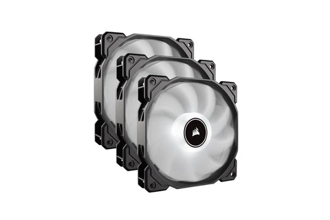 Corsair Air Series AF120 LED (2018) White 120mm Fan Triple Pack-computerspace