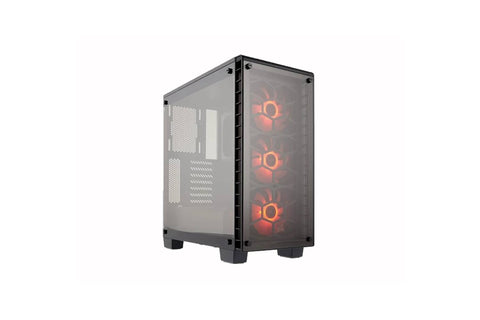 CORSAIR CRYSTAL SERIES 460X BLACK RGB MID TOWER TEMPERED GLASS CABINET