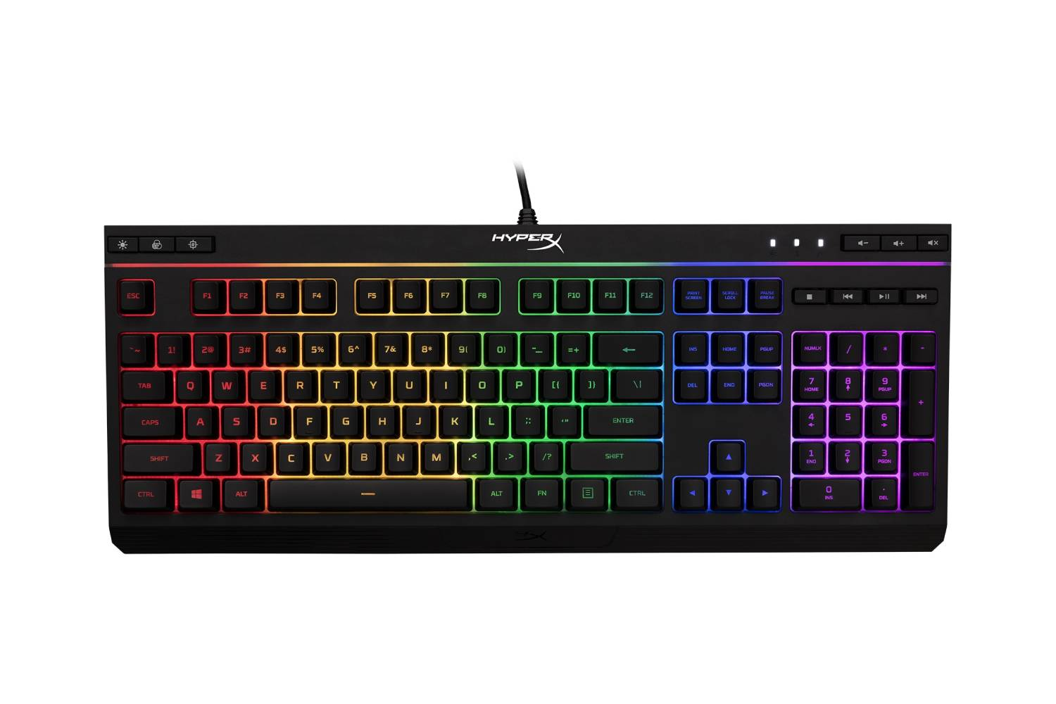 HyperX Alloy HX-KB5ME2-US Core RGB Membrane Gaming Keyboard (Black)