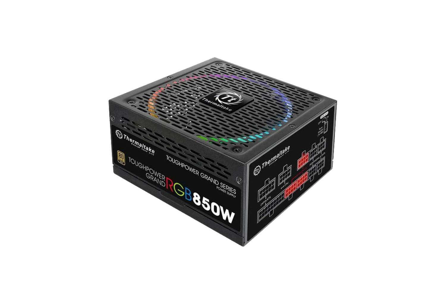 Thermaltake Toughpower Grand RGB 850W Gold (RGB Sync Edition) Power Supply-computerspace