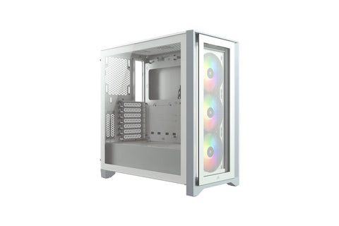 Corsair CUE 4000X RGB Tempered Glass Mid-Tower ATX Case — White