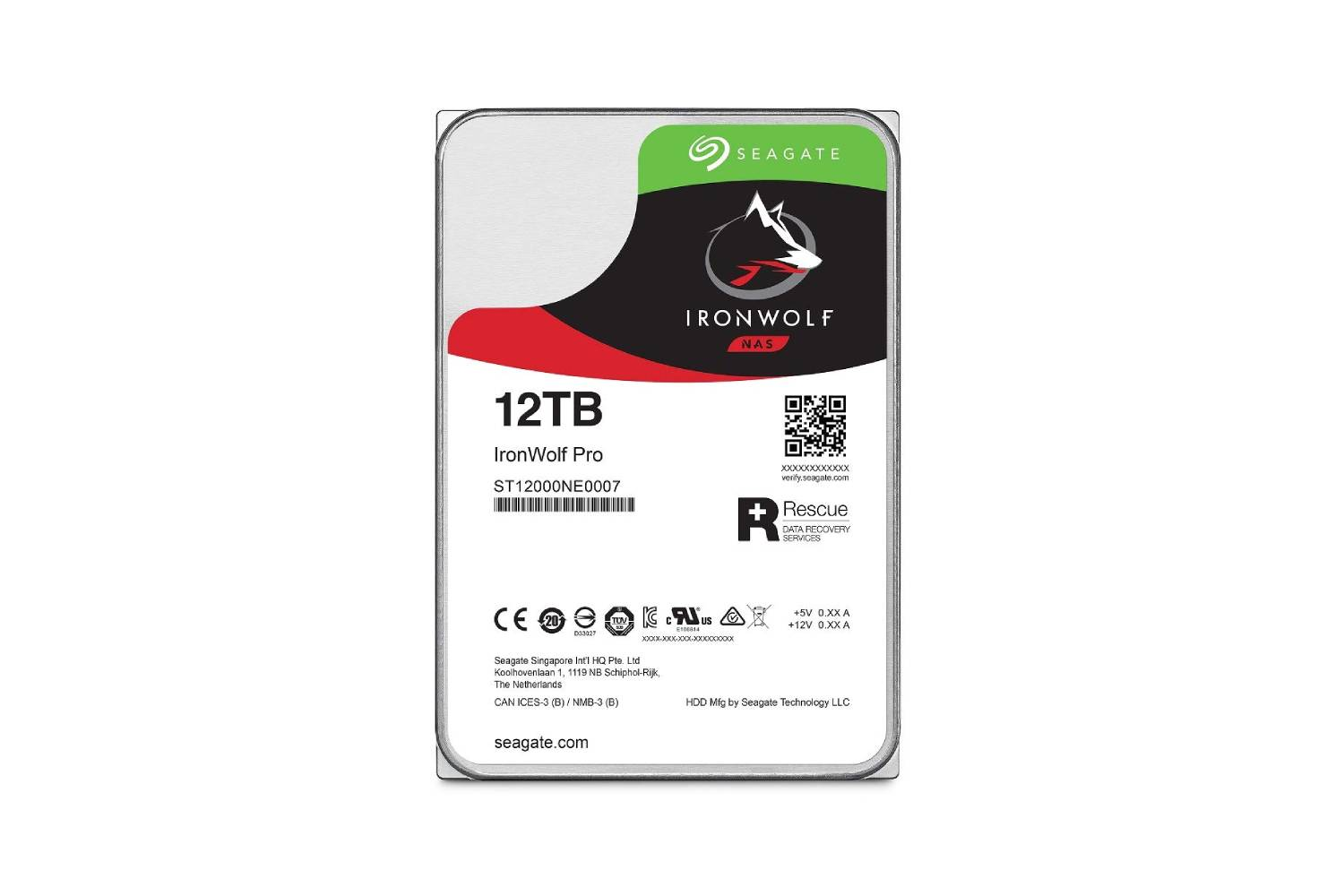 Seagate 12TB IronWolf Pro 7200RPM SATA 6Gb/s 256MB Cache 3.5-Inch NAS HDD-computerspace