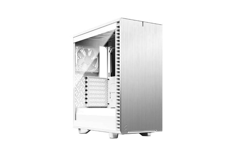 Fractal Define 7 Compact Light Tempered Glass White Cabinet-computerspace