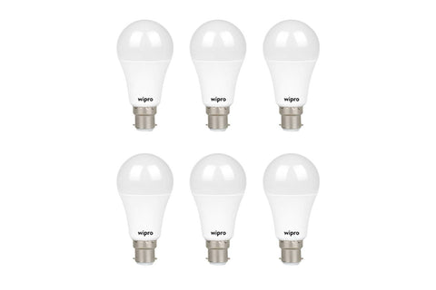 Wipro Garnet Emergency LED Bulb 9W 6500K - Pack of 6