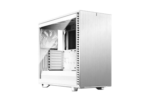 Fractal Define 7 Clear Tempered Glass White Cabinet-computerspace