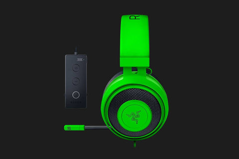 Razer Kraken Tournament Edition Wired Gaming Headset with USB Audio Controller - Green - FRML-computerspace