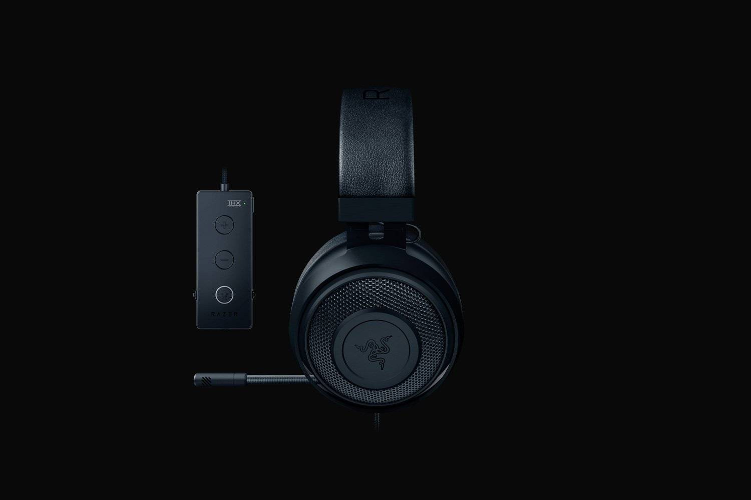 Razer Kraken Tournament Edition - Wired Gaming Headset with USB Audio Controller - Black - FRML-computerspace