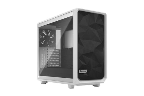 Fractal Meshify 2 Clear Tempered Glass Case White-computerspace