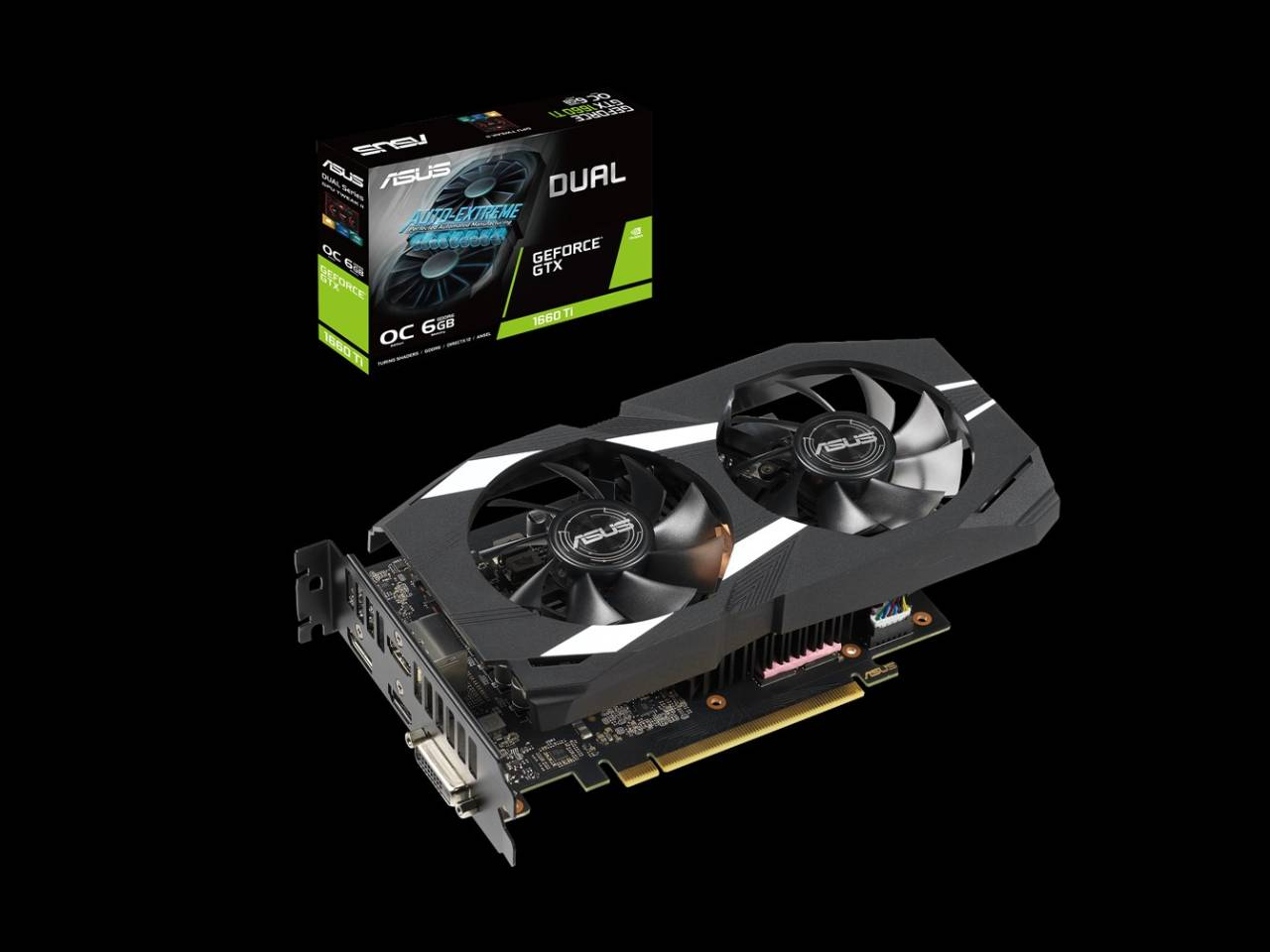 ASUS Dual GeForce GTX 1660 Ti OC edition 6GB GDDR6 Graphics Card.