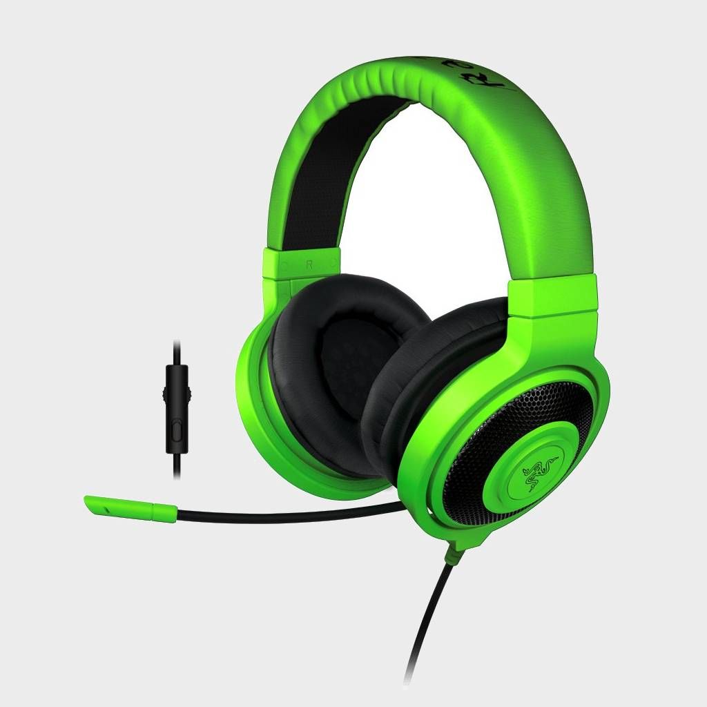 Razer Kraken Pro 2015 (RZ04-01380200-R3M1) Analog Gaming Headset Green-RAZER-computerspace