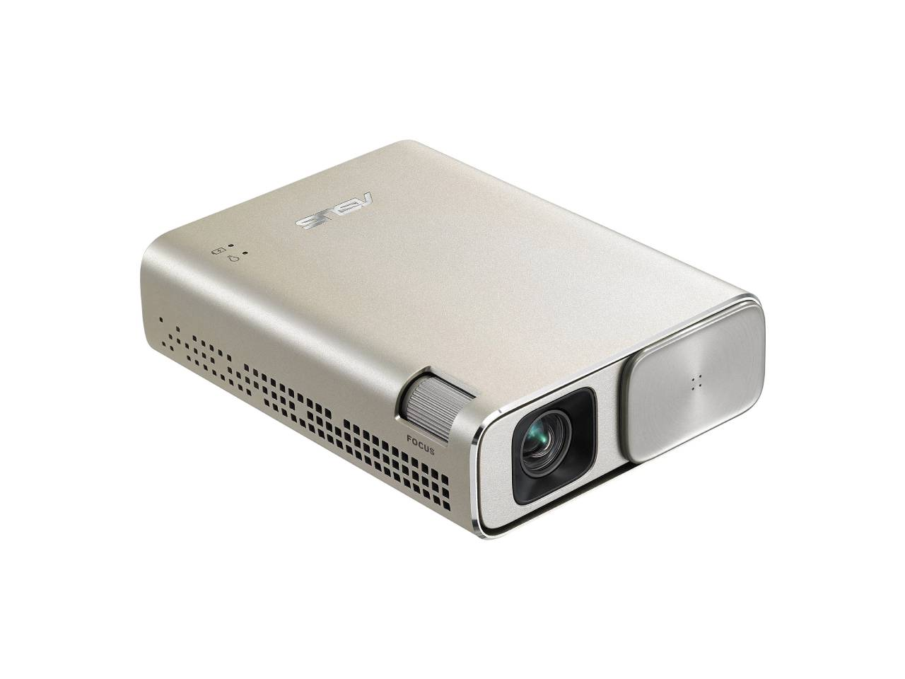 ASUS ZenBeam Go E1Z USB Pocket Projector, 150 Lumens, Built-in 6400mAh Battery, Up to 5-hour Projection time, Power Bank, Auto Keystone Correction, Micro USB / Type-C-computerspace