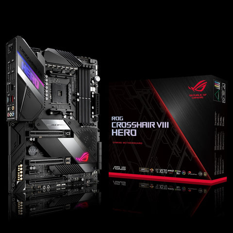 ASUS ROG Crosshair VIII Hero AMD X570 ATX gaming motherboard