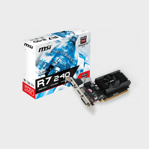 MSI AMD Radeon R7 240 2GBD3 64b LPV4 DDR3 Graphics Card-MSI-computerspace