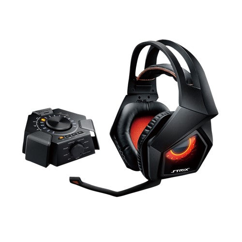 Asus Strix 7.1 True 7.1 gaming headset with 10 discrete neodymium-magnet drivers and a plug-and-play USB audio station