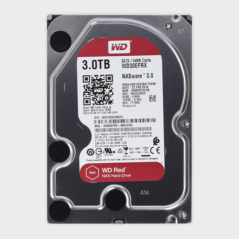 WD Red 3TB NAS Hard Disk Drive (WD30EFRX)-WESTERN DIGITAL-computerspace