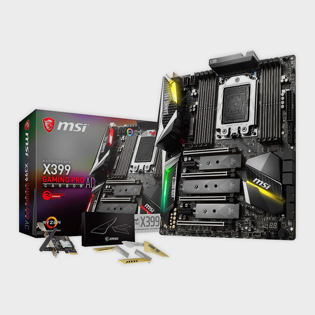 MSI X399 Gaming PRO Carbon AC Gaming AMD Ryzen ThreadRipper Motherboard-MSI-computerspace