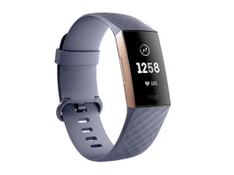 FITBIT CHARGE-3 FITNESS BAND ROSE GOLD/BLUE GREY