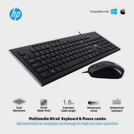 HP Slim Multimedia USB Wired Keyboard and Mouse Combo (4SC13PA)-HP-computerspace