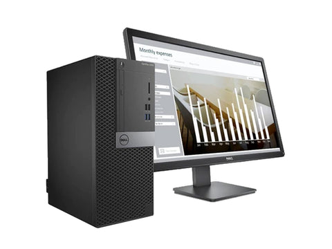 "Dell Optiplex 7060 MT with DOS and 19.5"" (inch) monitor complete desktop"