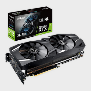 ASUS Dual GeForce RTX™ 2070 OC edition 8GB GDDR6 Graphics Card-ASUS-computerspace