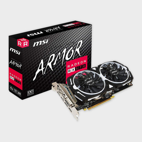 MSI RX 570 ARMOR 4G OC GAMING Radeon GDDR5 Graphics Card-MSI-computerspace