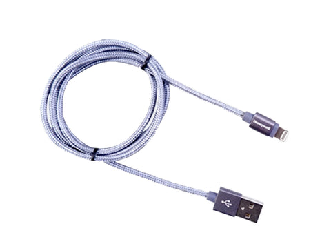 Honeywell Apple Lightning Sync & Charge Cable 1.2 Mtr (Braided) Grey-computerspace