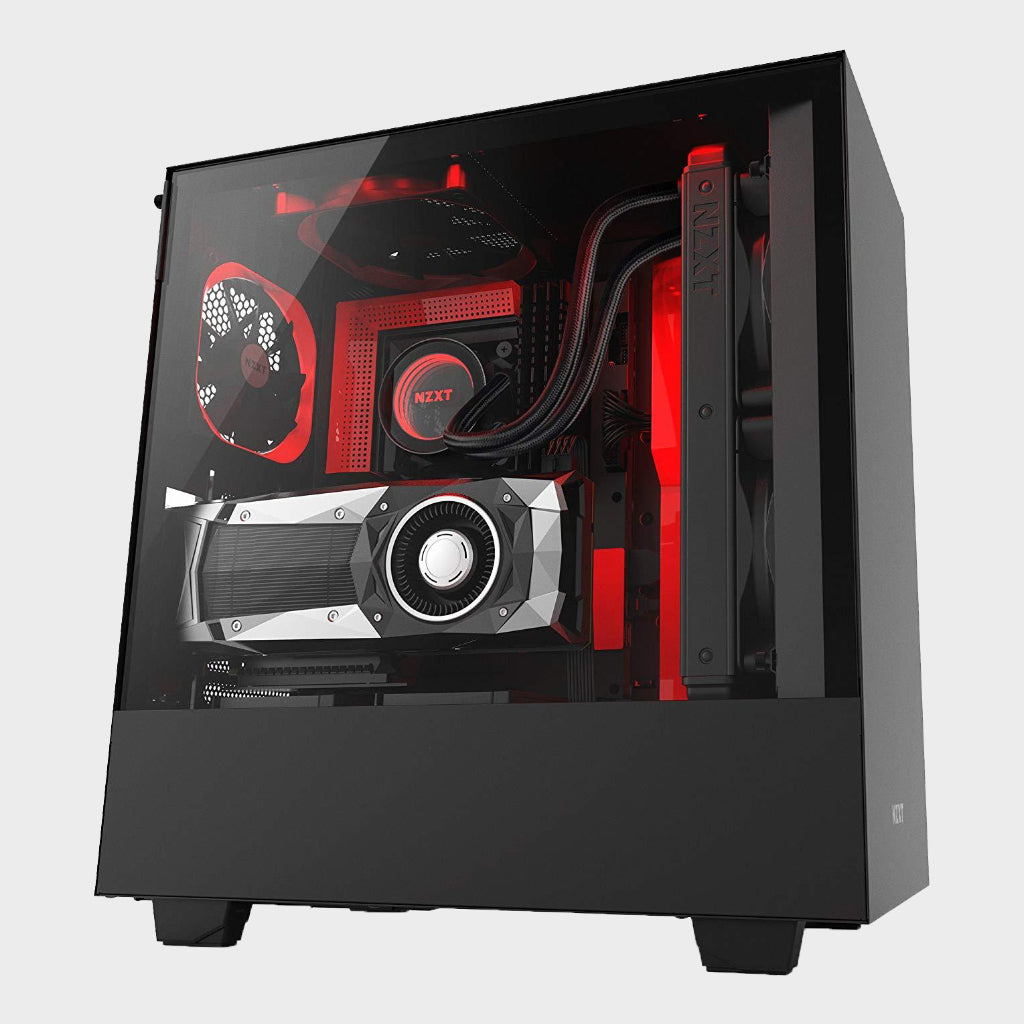 NZXT H500i ATX Computer Case (Black and Red)-NZXT-computerspace