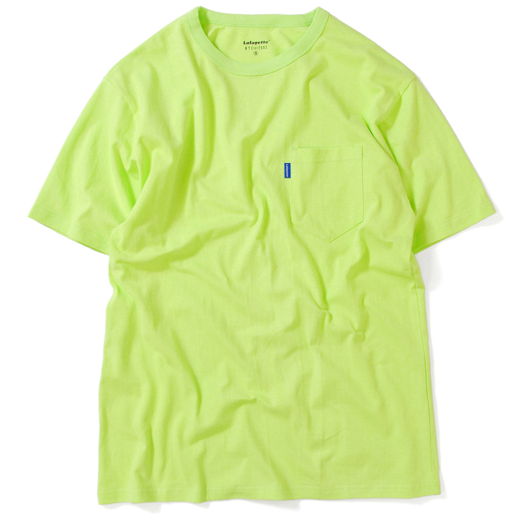 SOLID POCKET TEE LIGHT GREEN