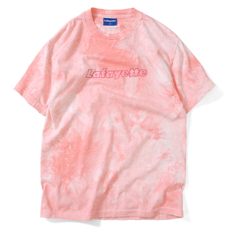 Lafayette Tie Dyed Outline Logo Tee Pink
