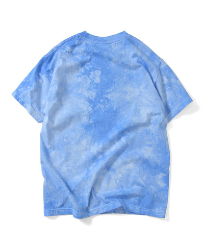 Lafayette Tie Dyed Outline Logo Tee Blue