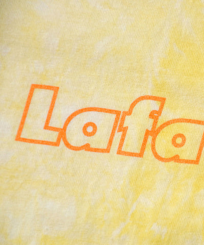 Lafayette Tie Dyed Outline Logo Tee Yellow