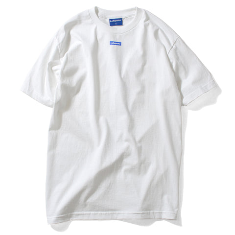 Lafayette Morning Glory Outline Logo Tee White