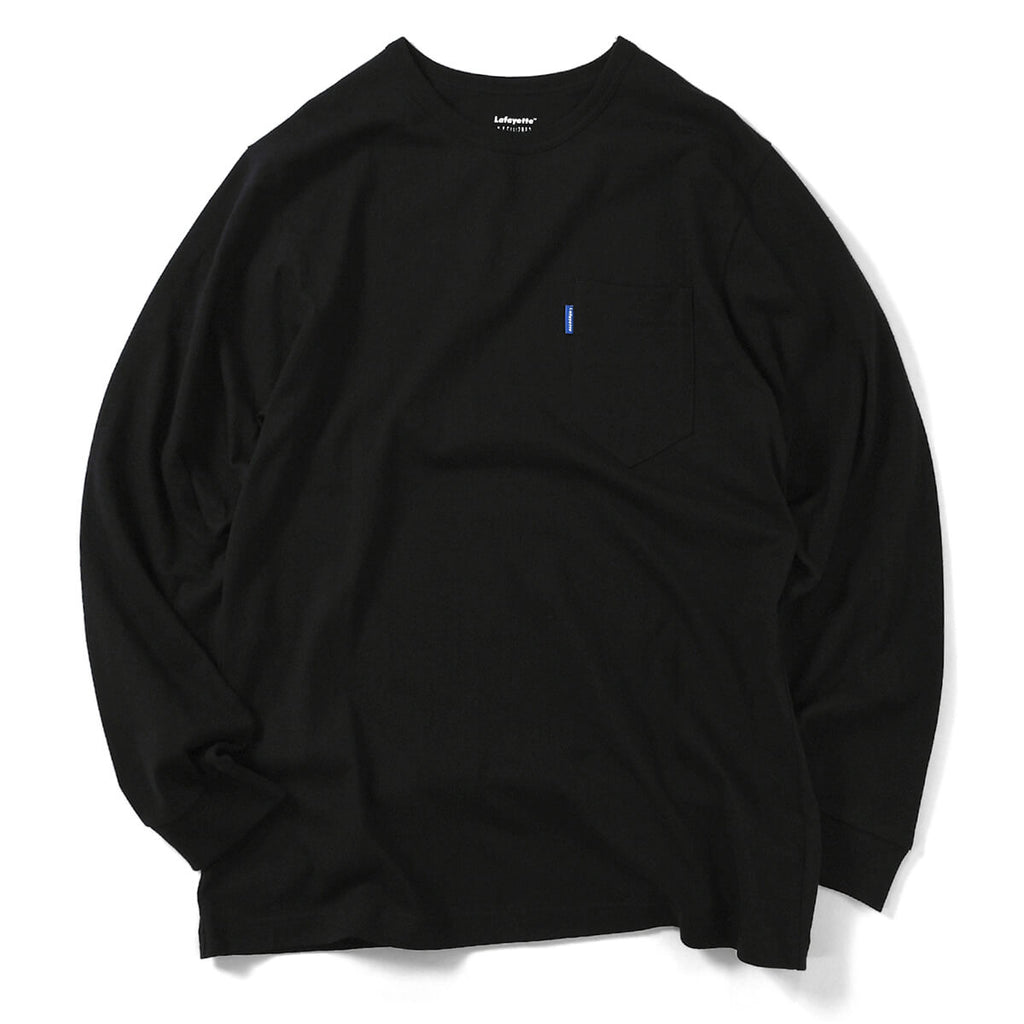Lafayette Solid Pocket L/S Tee