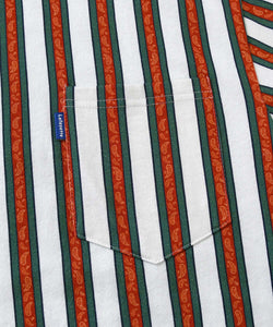 Lafayette Multi Color Paisly Striped Pocket Tee