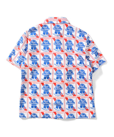 Lafayette x PABST BLUE RIBBON-ALL OVER S/S SHIRT