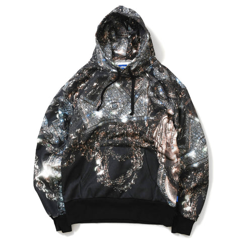 Lafayette x dee - STEEZ CHAIN ALLOVER HOODED SWEATSHIRT
