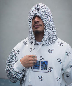 Lafayette x dee - PAISLEY ALLOVER HOODED SWEATSHIRT