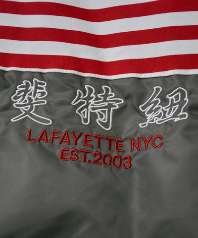 Lafayette Old Glory Allover Patch Flight Jacket Military Green