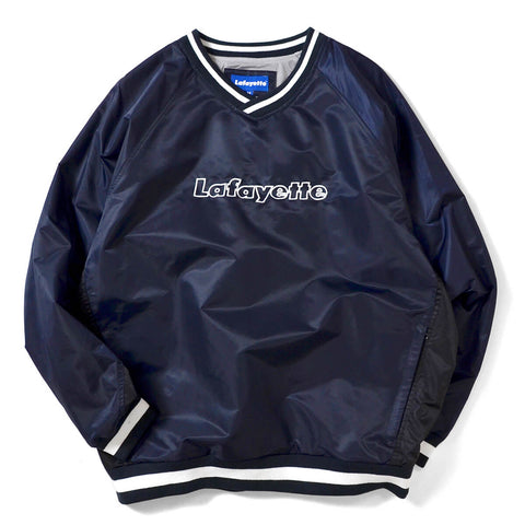 Lafayette Nylon V-Neck Windbreaker Jacket Navy