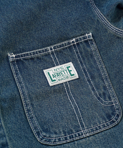 Lafayette Workers Denim Coverall Jacket Indigo Blue